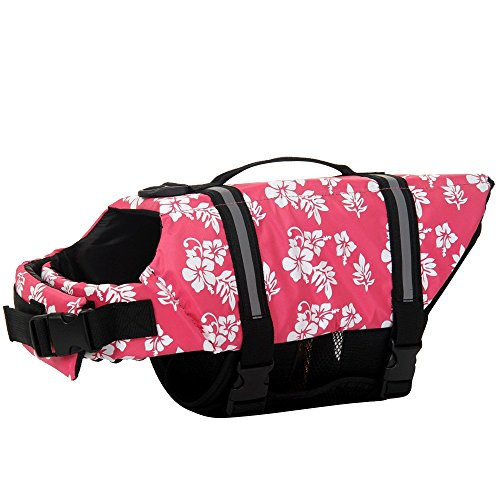 Ripstop Dog Life Jacket, Swim Novice Dog Life Vest, Handl...