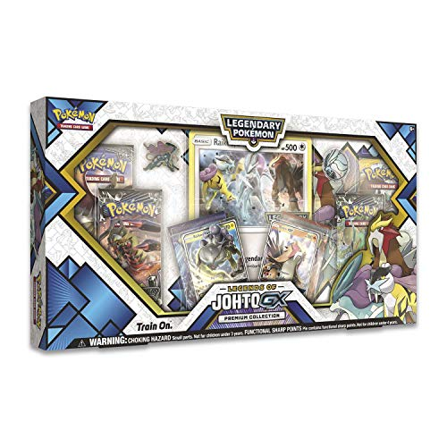 Pokemon TCG: Legends of Johto Gx Premium Collection Box | 6 Booster Pack (Pokemon Trading Card Box)