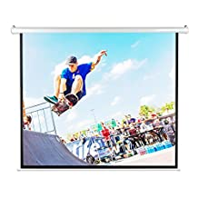 """Pyle PRJELMT106 100"""" Motorized Projector Screen, Electronic Automatic Display, Includes Remote Control"""