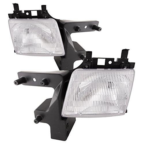 - HEADLIGHTSDEPOT Chrome Housing Halogen Headlights Compatible with Dodge Ram 1500 Van 2500 3500 Includes Left Driver and Right Passenger Side Headlamps