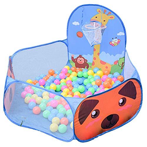 STOBOK Piscina Bolas Bebe Tienda de Juego para los niños con Canasta de Pelota Las Bolas no Incluyen (Azul Cervatillo)