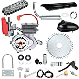 Anbull 100CC Bicycle Engine Kit, Bike Bicycle Motorized 2 Stroke Petrol Gas Motor Engine Kit with 3L Oil Tank for 26