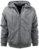 Mens Full Zipper Fleece Basic Hoodie with Lining to Choose from (XL, 480-Grey Melange)