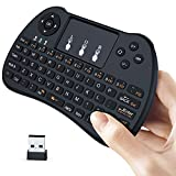 Aerb 2.4Ghz Wireless Mini Keyboard with Mouse Touchpad for PC, Google Android TV Box, Black