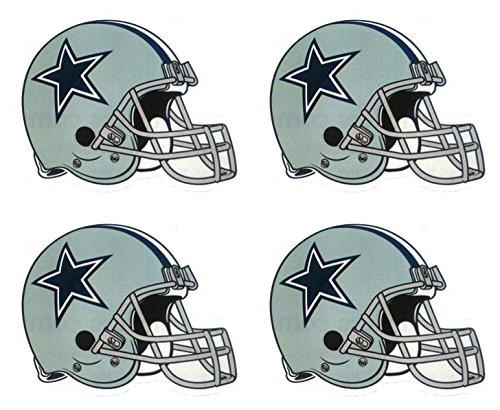 Dallas Cowboys Four (4 Dallas Cowboy Die Cut Stickers NFL Football Helmet Logo Sticker Team Set)
