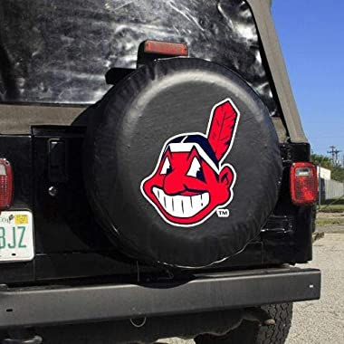 MLB Cleveland Indians Black Tire Cover