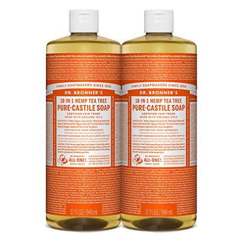 Dr. Bronner's 18-IN-1 Hemp Tea Tree Pure-Castile Soap, Tea Tree Oil, 32 Ounce, Pack of # 2