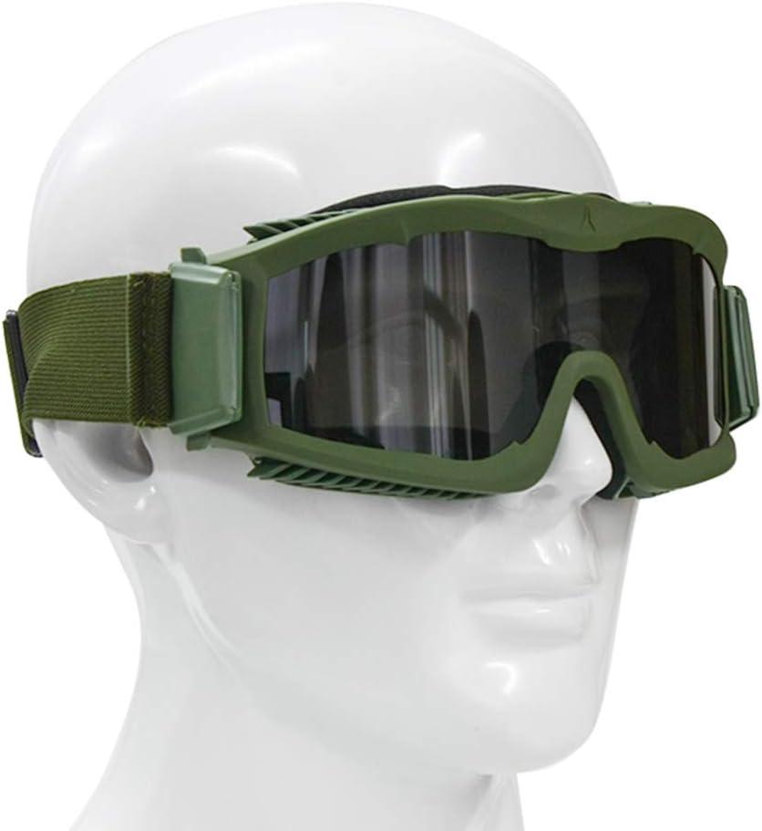EnzoDate Militaire Alpha Ballistic Goggles Tactique Arm/ée Lunettes de Soleil Airsoft CS Paintball Lunettes 3 Lens Kit