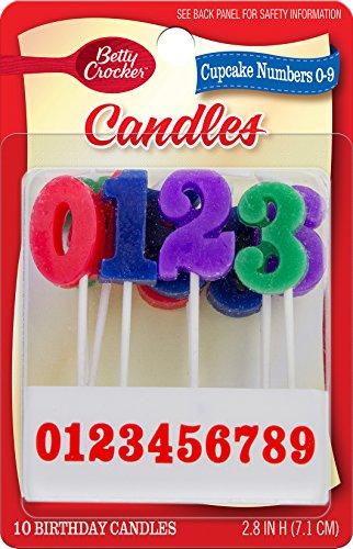 Betty Crocker Cupcakes 10/Pkg Birthday Candles ()