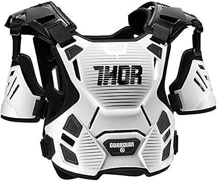 Thor Guardian Motocross Brustpanzer Oberkörper Protektor Schwarz Weiss Rot Orange Blau M L Xl 2xl Weiß M L Sport Freizeit