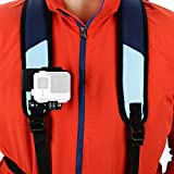 Sametop Backpack Strap Mount Quick Clip Mount Compatible with Gopro Hero (2018), Fusion, Hero 7, 6, 5, 4, Session, 3+, 3, 2, 1 Cameras