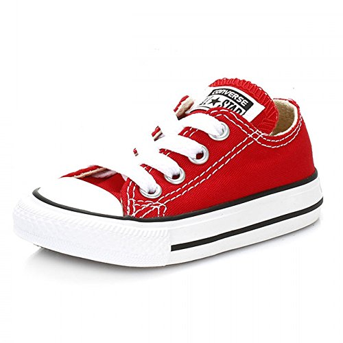 Converse Chuck Taylor All Star Ox, Sneakers Basses Mixte Bébé Rouge (Varsity Red)