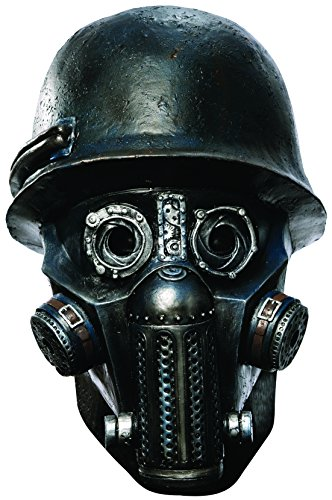 Rubie's Men's Sucker Punch Gas Mask Zombie Deluxe Overhead Mask, Black, One Size -