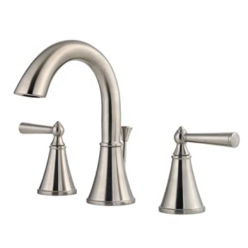 Pfister GT49GL0C Saxton 2 Handle 8 Inch Widespread Bathroom Faucet In Brushed Nickel