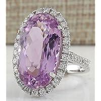Women Fashion Kunzite Gemstone 925 Sterling Silver Bridal Wedding Ring Jewelry Size 6-10 (7)