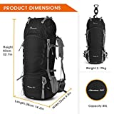 MOUNTAINTOP 55L/80L Hiking Backpack Rain Cover