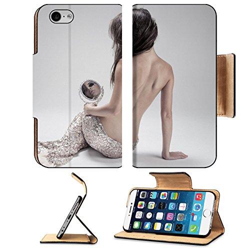 Liili Premium Apple iPhone 6 iPhone 6S Flip Pu Leather Wallet Case ID: 26003893 Fashion Fantasy Mermaid Studio Shot Gray (Ideas For Hairstyles)