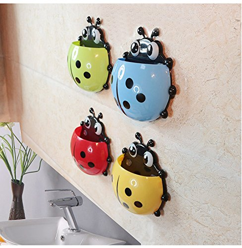bestga cute cartoon ladybug kids wall suction cup mount import it all. Black Bedroom Furniture Sets. Home Design Ideas