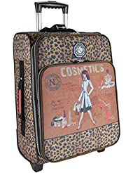 Nicole Lee 20 Inch Crinkled Nylon Carry-on (Cosmetics), Hailee