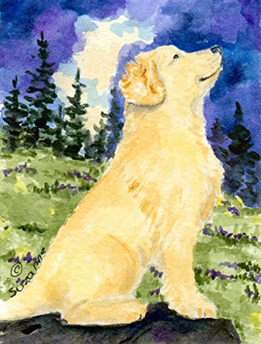Caroline's Treasures SS8977CHF Golden Retriever Flag Canvas, Large, Multicolor For Sale