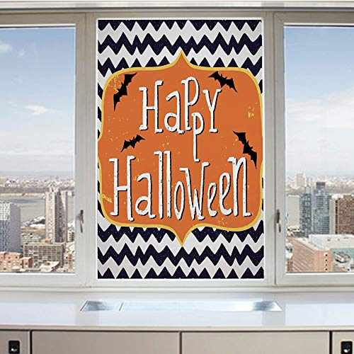 3D Decorative Privacy Window Films,Cute Halloween Greeting Card