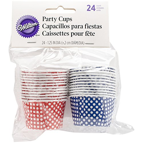 wilton baking cup blue dots - 8