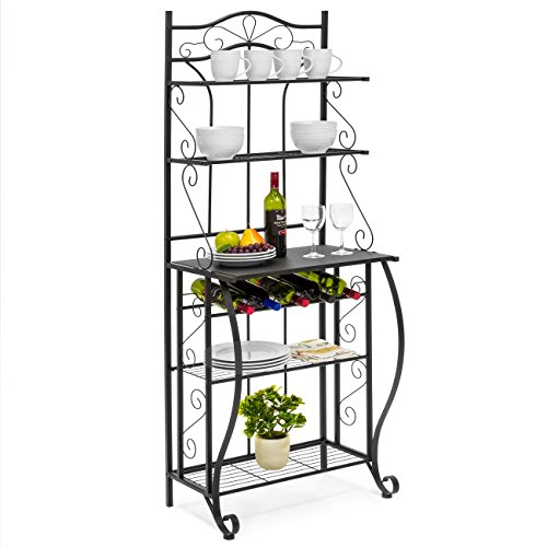 Best Choice Products 5 Tier Black Metal Kitchen Bakers Rack (Cappuccino) by Best Choice Products