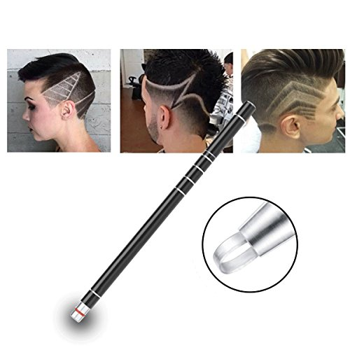 Hair Tattoo Trim Hair Razor Pen For Hair Design Stainless Steel Face Shaping Device, Engraved Pen/ 10 Blades/Tweezer Hair Styling Eyebrows Beards Razor Tool