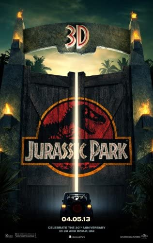 Amazon Com Jurassic Park 1993 Original Authentic Movie Poster 27x40 Dbl Sided Sam Neill Laura Dean Jeff Goldblum Richard Attenborough Everything Else