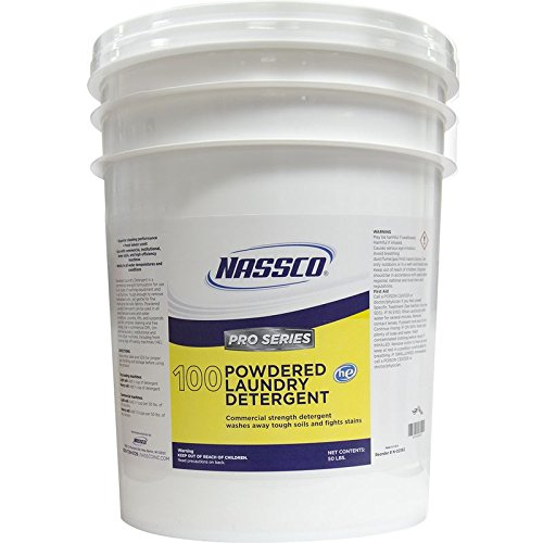 Nassco Pro Series 100 Powdered Laundry Detergent, 50 lb Pail by Nassco