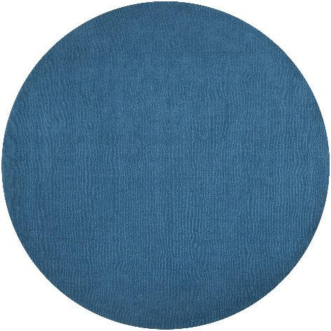 Surya M-342 Mystique Solids and Borders Round Dusk Blue 8' Round Area Rug