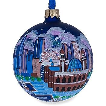 BestPysanky Chicago Navy Pier Glass Ball Christmas Ornament 3.25 Inches - Amazon.com: BestPysanky Chicago Navy Pier Glass Ball Christmas