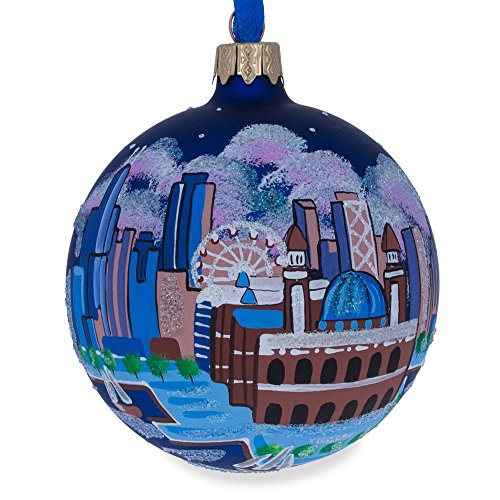 (BestPysanky Chicago Navy Pier Glass Ball Christmas Ornament 3.25 Inches)