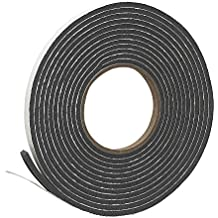 """Frost King Vinyl Foam Tape - Closed Cell - Moderate Compression, 3/8"""" W, 3/16"""" T, 17' L, Charcoal"""