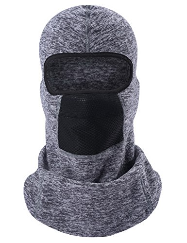 (ChinFun Balaclave Windproof Ski Mask Cold Weather Face Mask Winter Tactical Hood Motorcycle Neck Warmer Thermal Retention Winter Outdoor Premium Soft Moisture Wicking Polar Fleece Heather Grey)