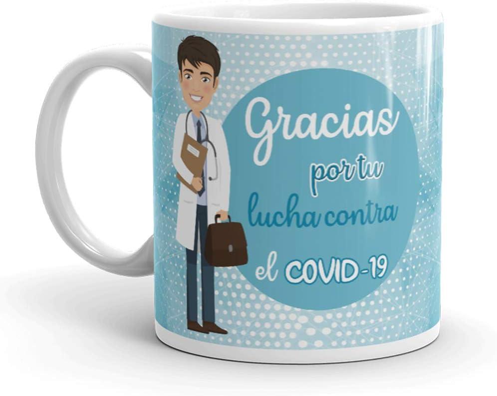 Kembilove. Tazas Desayuno Originales Personalizadas para Médicos – Taza de café de Agradecimiento para Médicos Que lucharon en Ayudar a la Gente – Regalos Originales Médico