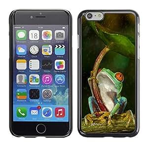 FECELL CITY // Duro Aluminio Pegatina PC Caso decorativo Funda Carcasa de Protección para Apple Iphone 6 Plus 5.5 // Umbrella Green Forest Tropical