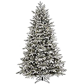 online store 43b6e d68d1 Kalwason 7ft Flocked Artificial Christmas Tree Snowy Spruce Unlit Xmas Tree  Include Storage Bag, 51