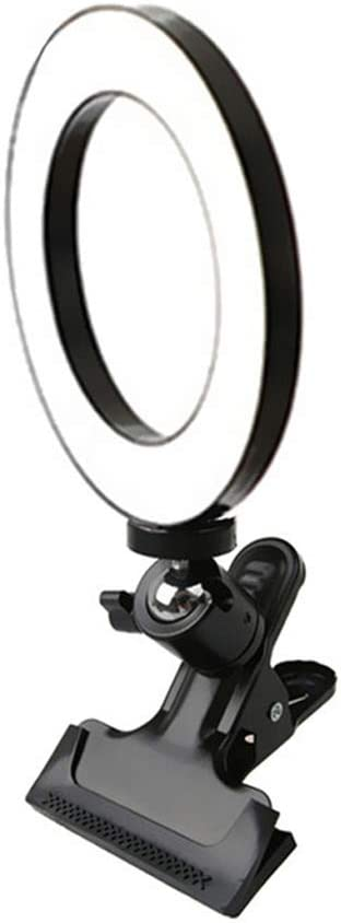 9-Level Adjustable Brightness for IPad Sumsung Tablet Video JIAX Selfie Light Ring for iPhone and Android Camera Rechargeable Portable Clip-on Mini Phone Lights Laptop