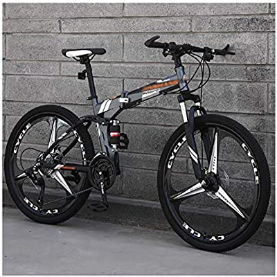 STRTG 24 * 26 Pulgadas Portátil Plegado Bike, Marco De Acero De Alto Carbono,Sillin Confort,Adultos Plegado Bike, 21 * 24 * 27 Velocidades Urbana Unisex MontañA Bicicleta Plegable: Amazon.es: Deportes y aire libre
