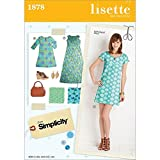 Simplicity 1878 Misses Dresses Sewing Pattern, Size R5 (14-16-18-20-22)