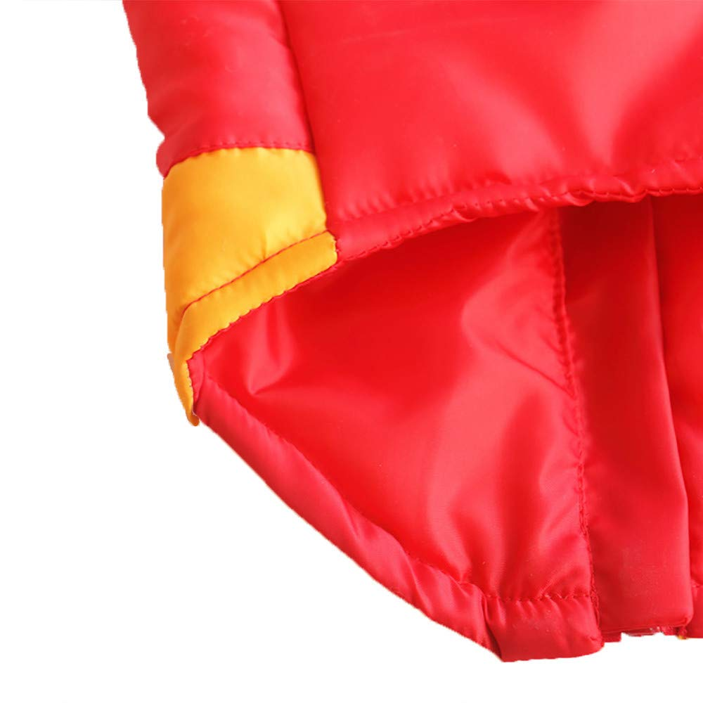 Cat Dog Patchwork Coat Jacket Pet Supplies Clothes Winter Apparel Puppy Costume Thickened Wave Cotton-Padded Warm Jacket Puppy Sweatshirt Cat Sweater Dog Outfits Puppy Shirt (Yellow, S) by succeedtop (Image #4)