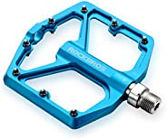 ROCKBROS Mountain Bike Pedals MTB Pedals 9/16-Inch Sealed Bearing Lightweight Aluminum Alloy Bicycle Platform