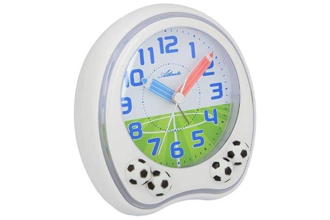 Puregrey Fussball Kinder Wecker Weiss Amazon De Uhren
