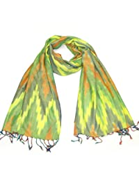 Lovarzi Women's Scarf - Colourful Zig Zag Ikat girls scarves