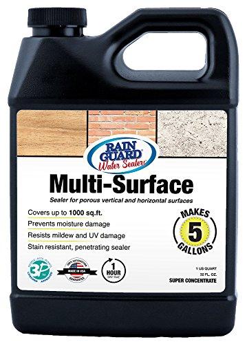 (Rainguard International SP-1201 32 Oz Concentrate (Makes 5 Gallons) Premium Grade Multi-Surface Sealer for Wood, Concrete & Masonry)