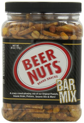 BEER NUTS Bar Mix (Party), 26-Ounce Jars (Pack of 3)
