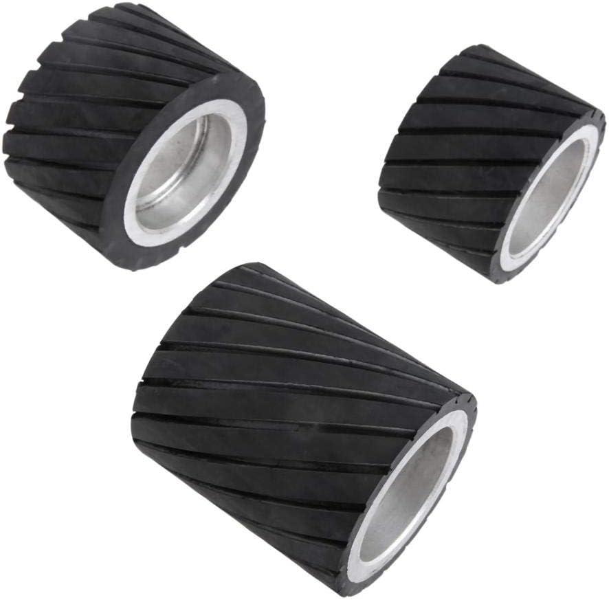 70x50mm 80x50mm 70x80mm Belt Grinder Rubber Contact Wheel Abrasive Sanding Belt Set Polishing Grinder Sanding Contact Wheel Belt,70x80mm 70x50mm