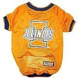 NCAA Dog Jersey, Large, University of Illinois Fighting Illini