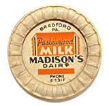 Vintage Madison Dairy Cardboard Milk Bottle Cap Lid, used for sale  Delivered anywhere in USA